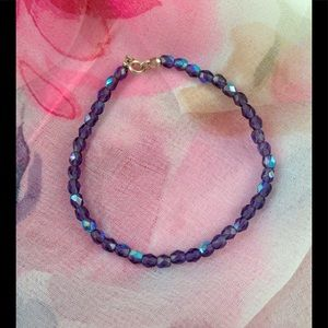 Hand-Strung Swarovski crystal beaded bracelet